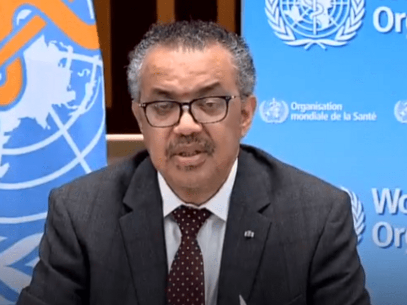 WHO chief Tedros Adhanom Ghebreyesus COVID-19 pandemic