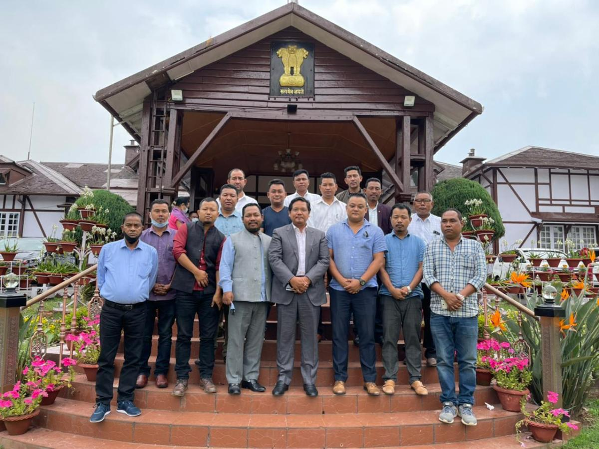 The first session of the newly-elected Garo Hills Autonomous District Council in Meghalaya is being held on Monday