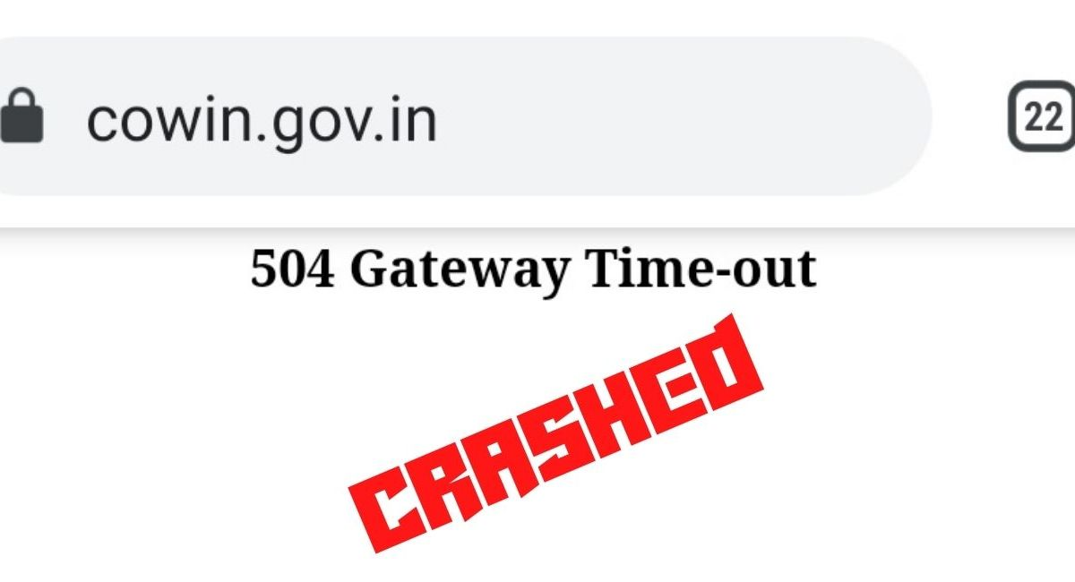 Cowin registration site crashes