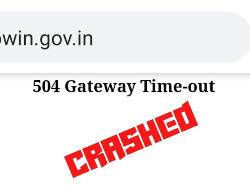 Cowin registration site crashes