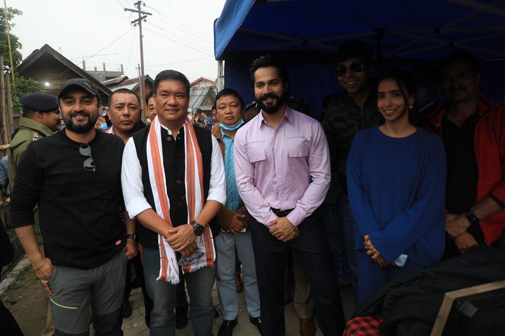 Varun Dhawan Bhediya shoot