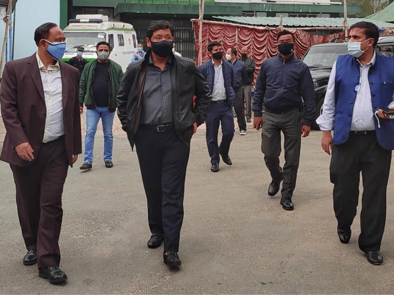 Conrad Sangma visits Shillong Civil hospital to oversee oxygen plant