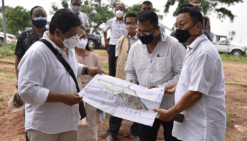 Meghalaya CM inspects construction of state university campus