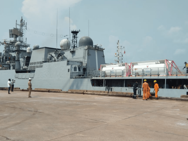 Indian Navy sends 9 warships to transport oxygen, medical equipment from abroad