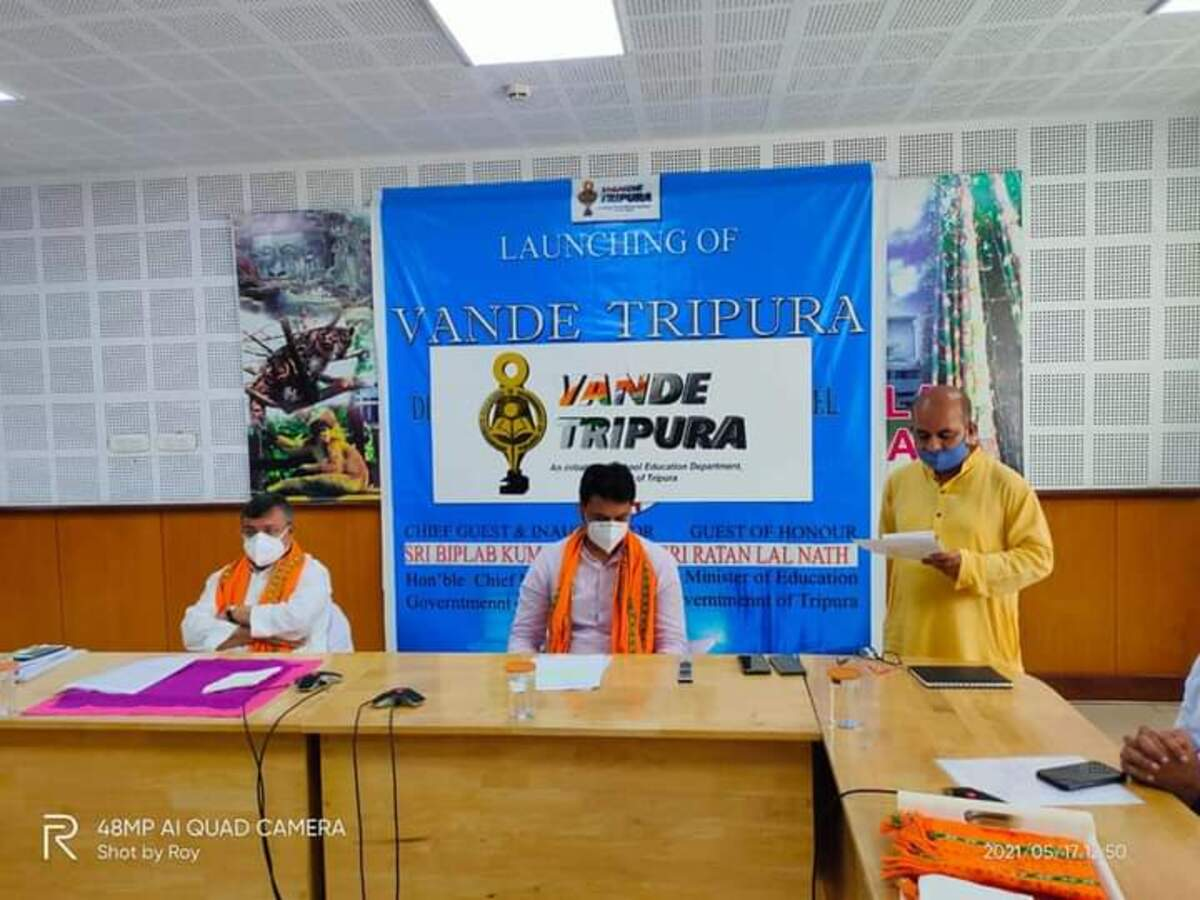 24x7 educational channel 'Vande Tripura' launched in Tripura