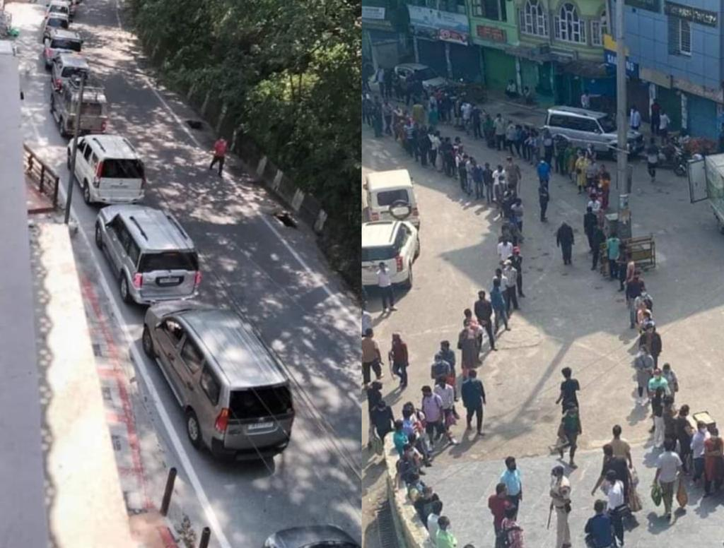 IN PHOTOS: Sikkim faces traffic jams, long queues after partial lockdown relaxation
