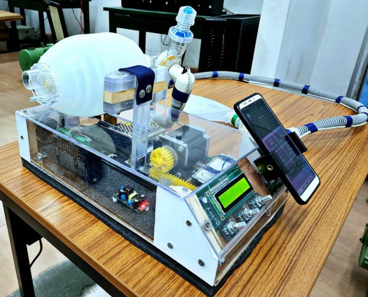 Tezpur University portable ventilator