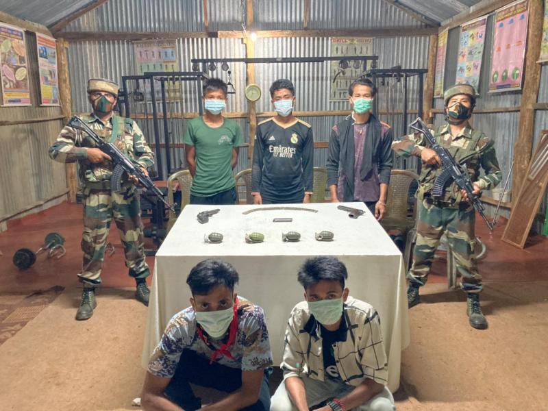 5 rebels of Myanmar-based Arakan Liberation Party arrested in Mizoram