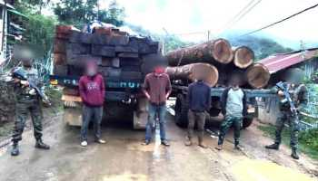 Manipur: Smuggled timber worth Rs 3.77 lakh seized in Churachandpur, 4 arrested