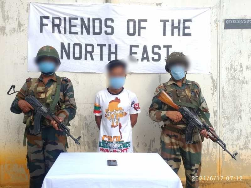 The active militant of banned outfit Kuki National Army-India (KNA-I) was arrested from Tuisomjang village in Manipur's Churachandpur district on Thursday