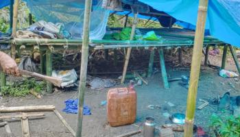Arunachal, Assam police destroy camps of suspected militants