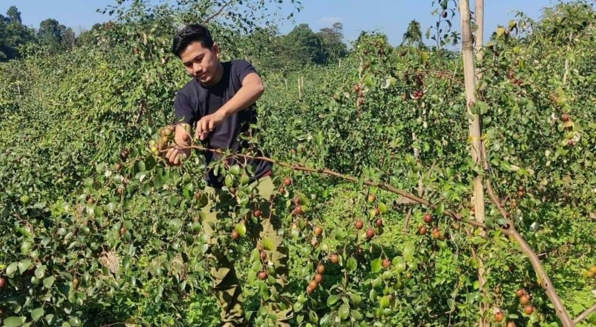 Tripura farmer Bikramjit Chakma