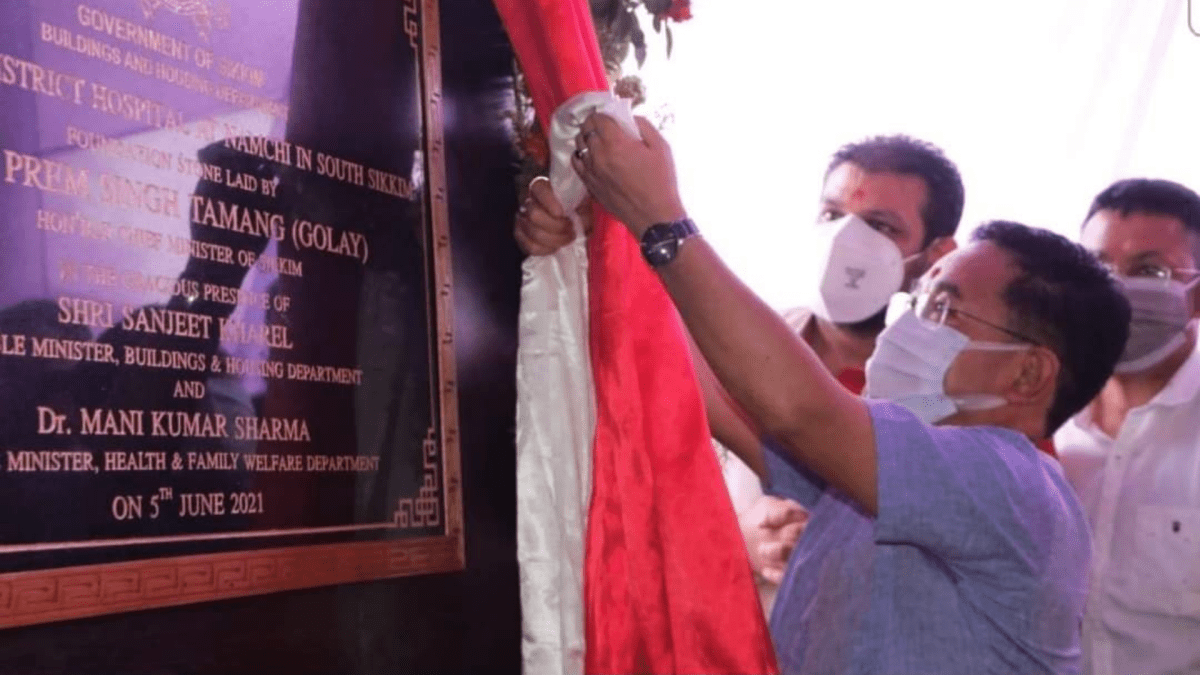 CM lays foundation stone for 300 bedded District Hospital at Namchi