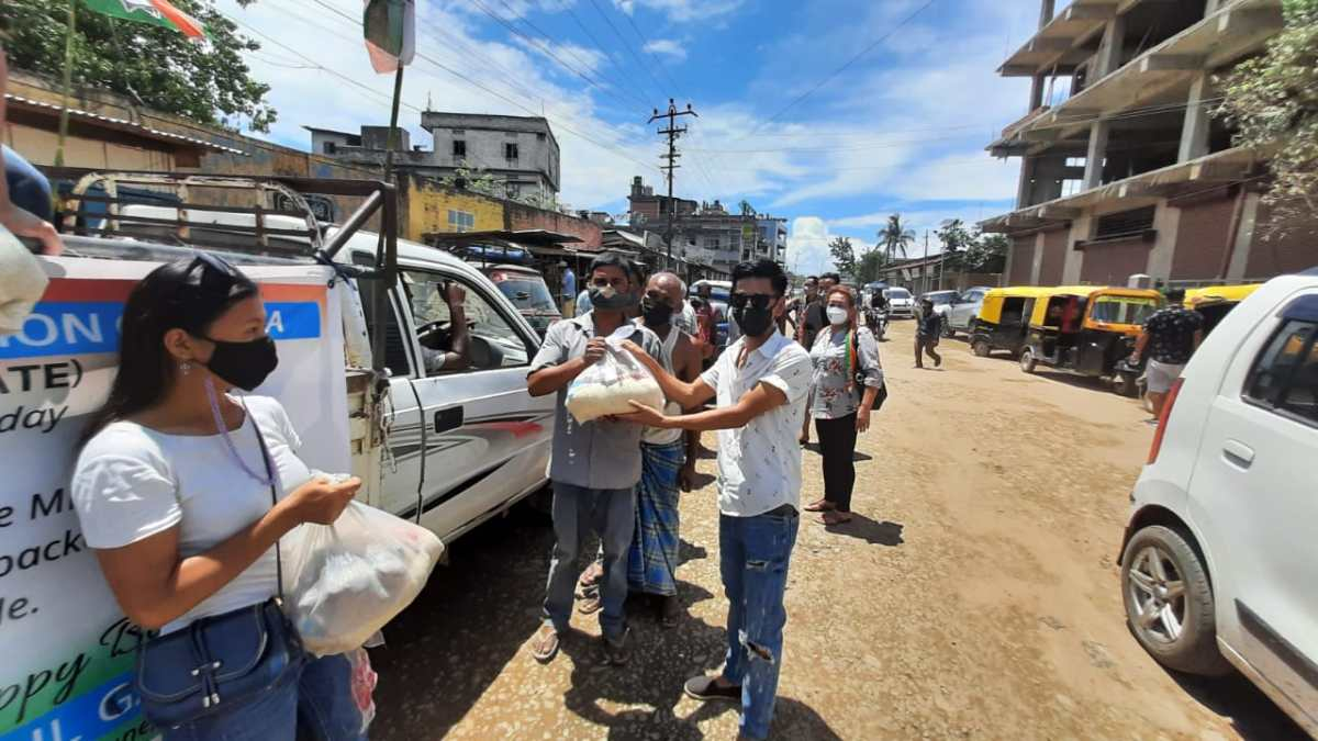 Nagaland Congress distributes ration to 700 people to mark Rahul Gandhi's birthday