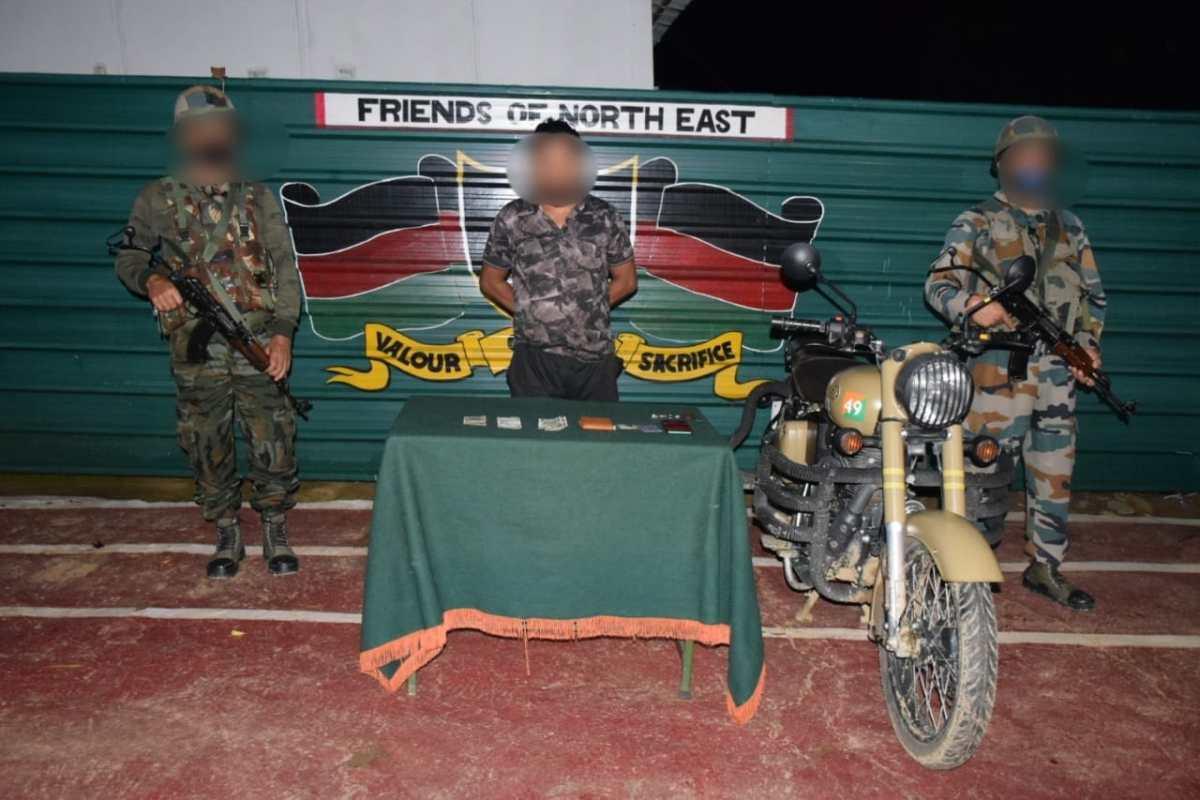 Manipur: One KNF(S) cadre arrested in Churachandpur