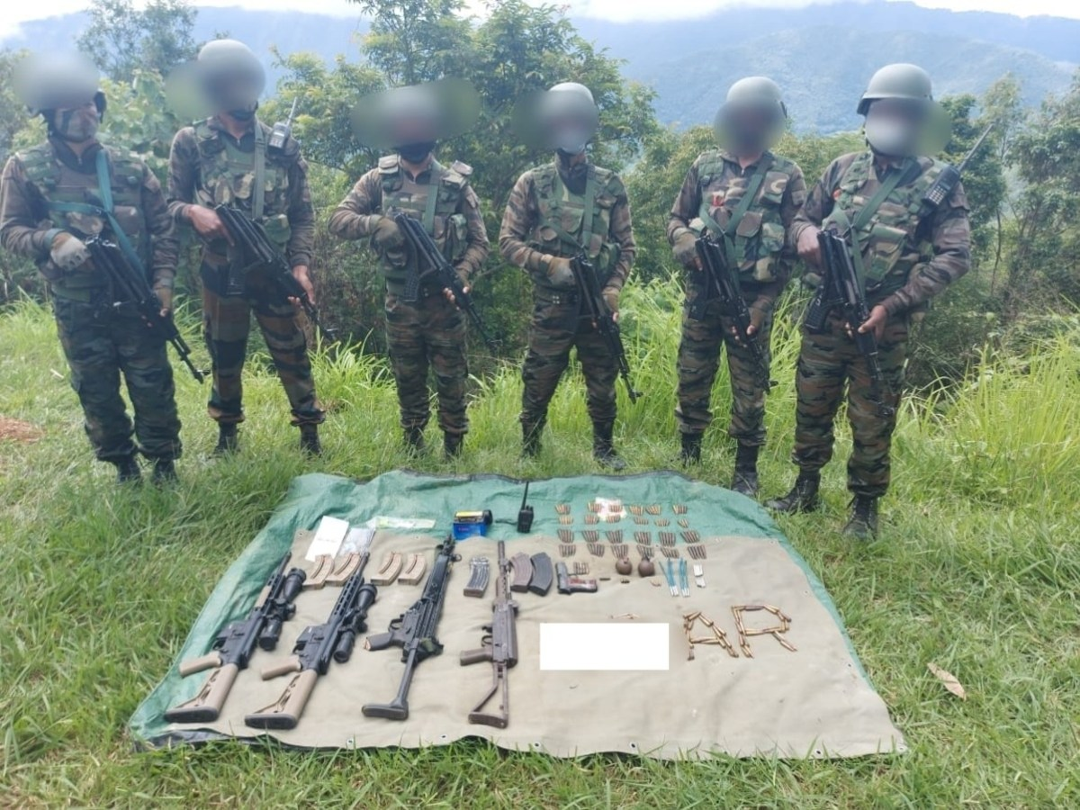 Manipur: Huge cache of arms and ammunition recovered in Kamjong