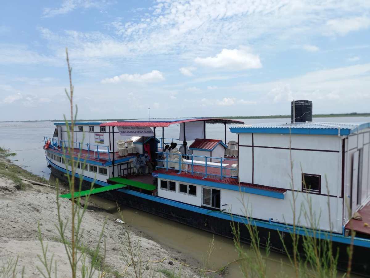 Assam: Boat vaccination camp in Char-Chopari area of Gohpur