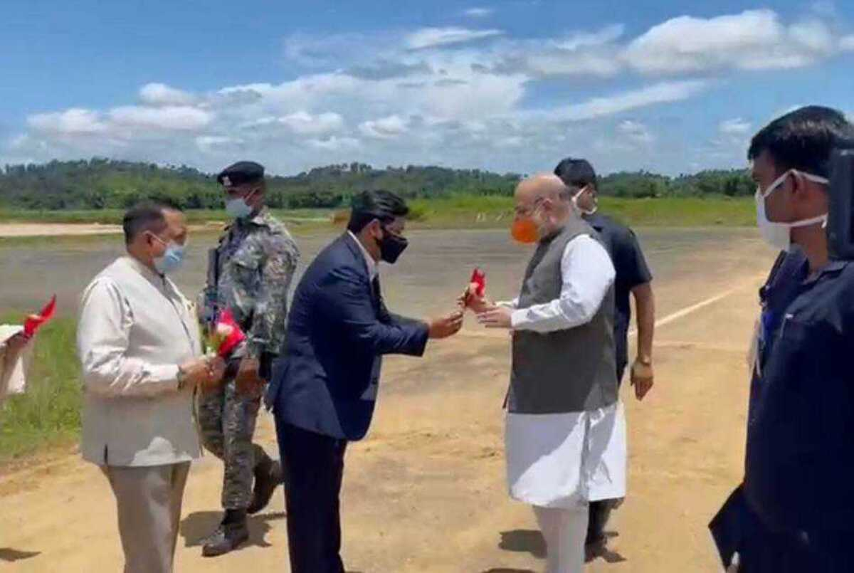 Meghalaya: Home minister Amit Shah arrives, to chair meeting of NE CMs