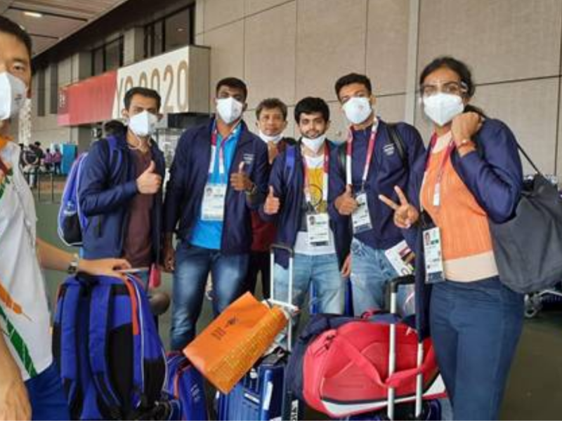 Olympics: India's contingent checks in at Tokyo, training from Monday
