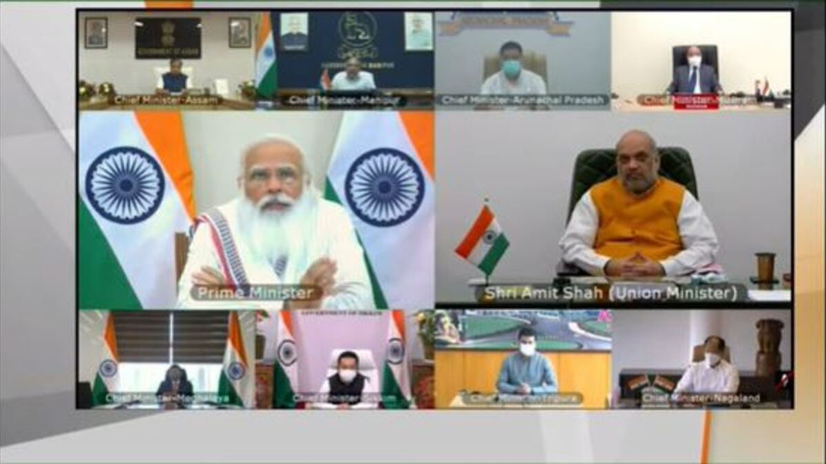 PM interacts with Chief Ministers of Northeast states on COVID-19 situation