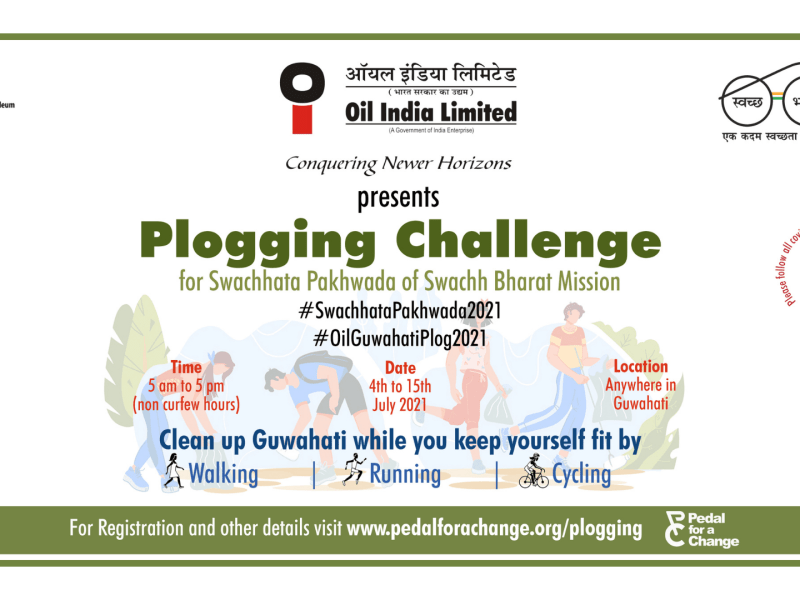 Oil India organising Plogging Challenge as part of Swachh Bharat Mission