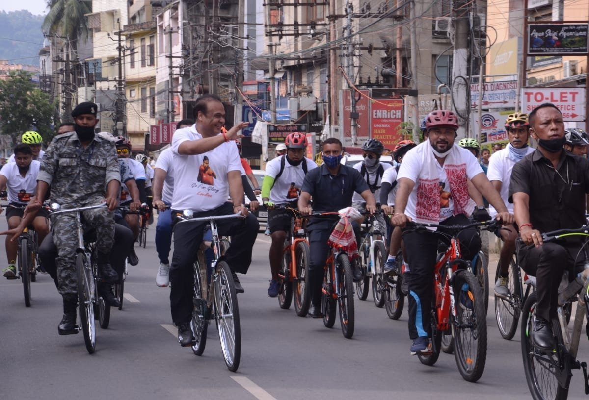Assam cycles to wish Olympics boxer Lovlina Borgohain