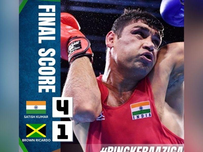 Debutant Satish Kumar sails into Olympic boxing quarterfinals