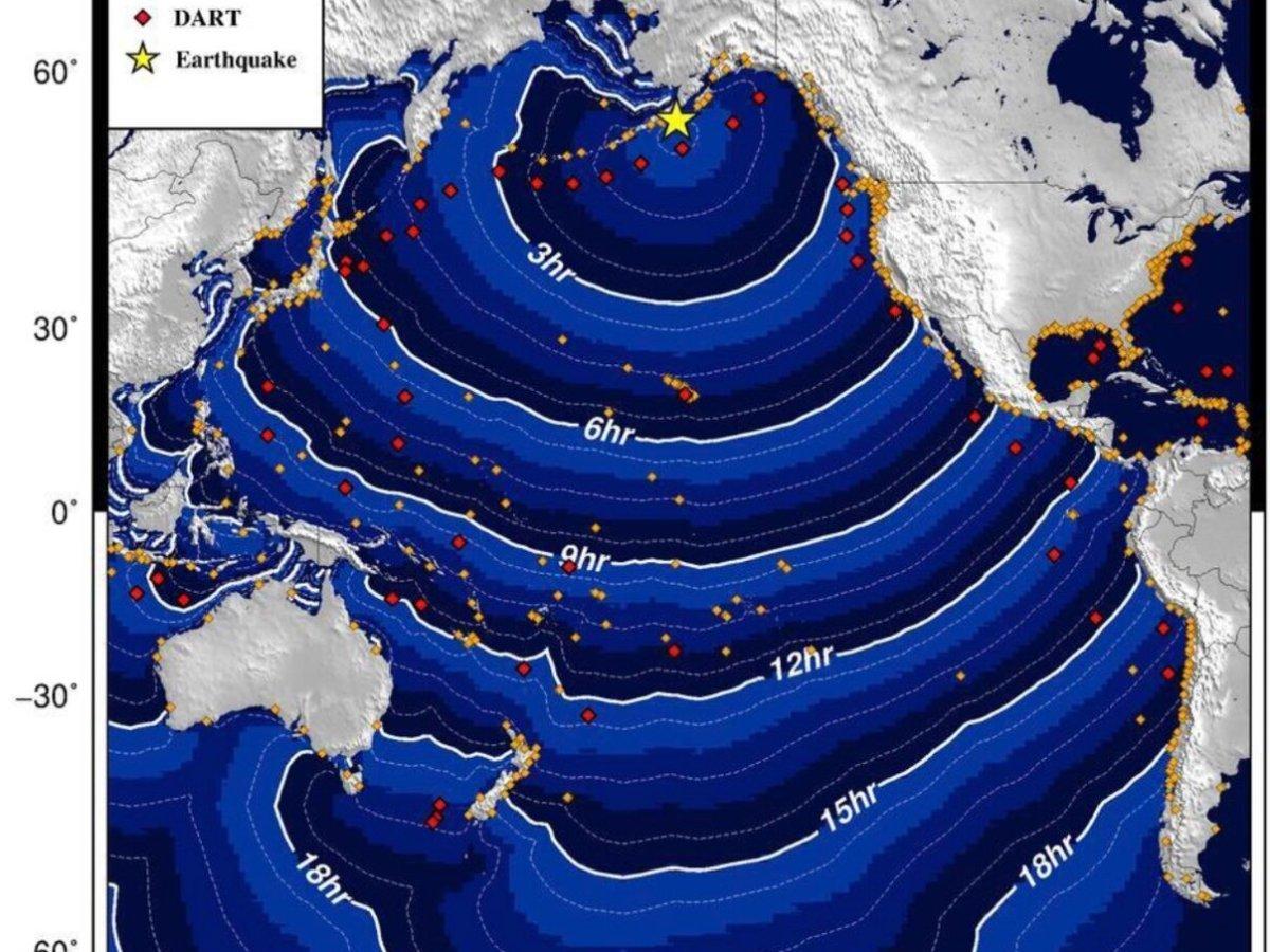 Tsunami watch issued for Hawaii after 8.2M quake hits Alaska