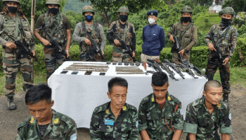 Nagaland police, security forces destroy illegal NSCN-IM camp at Wokha, 4 held