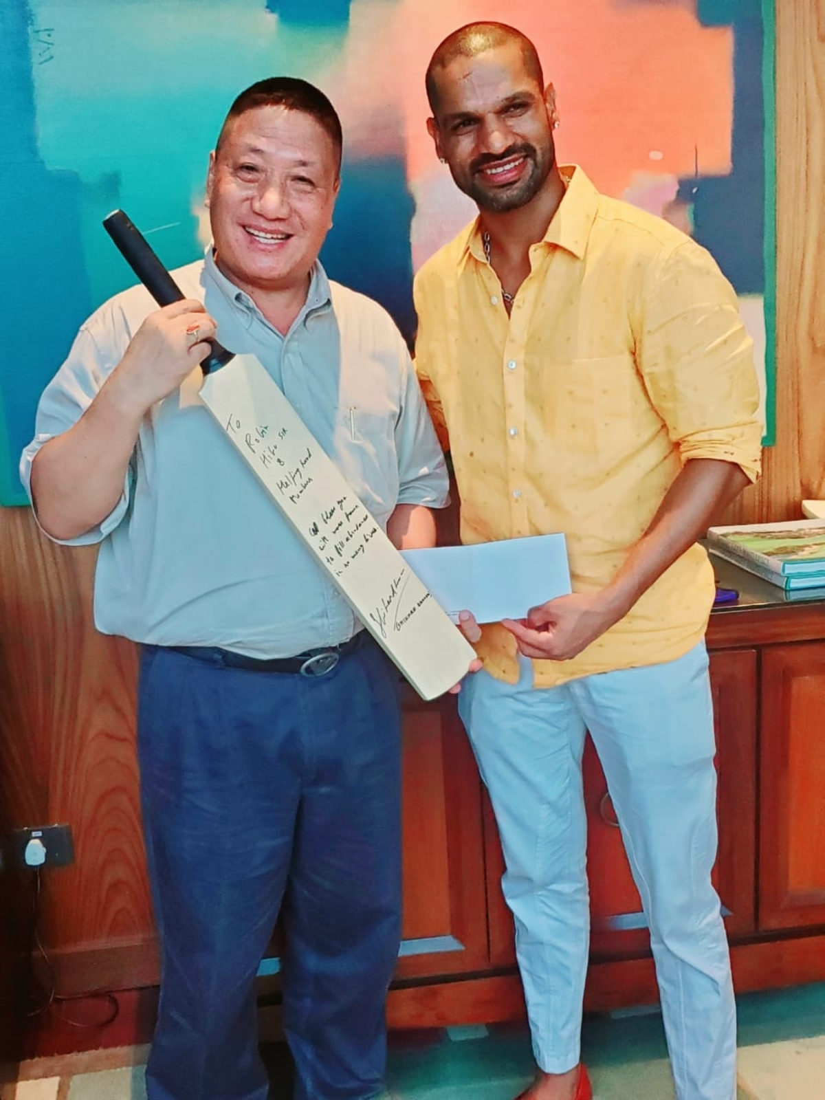 Shikhar Dhawan Groom NE Cricketers
