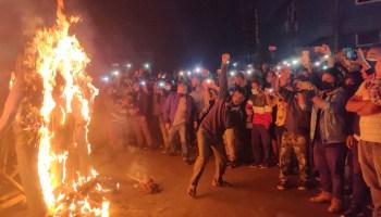 Shillong effigy burning