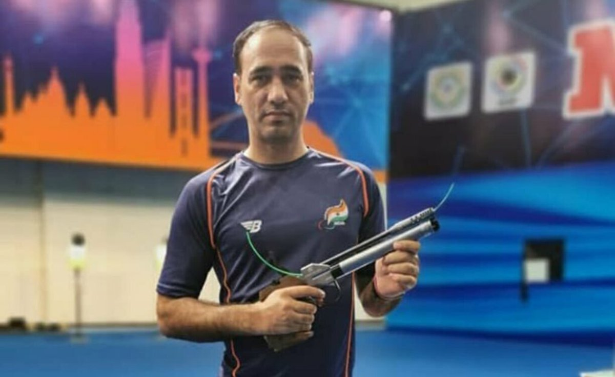 Singhraj Adana wins bronze in Paralympics men's 10m air pistol