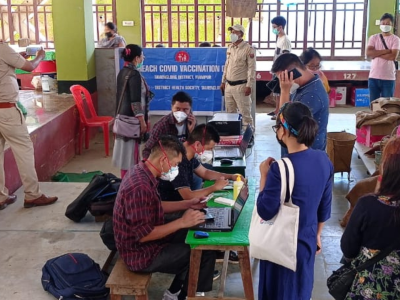 Between hesitancy & monsoon: How Manipur health workers are managing COVID vaccination