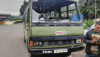 CRPF vehicle attacked in Meghalaya capital amid curfew