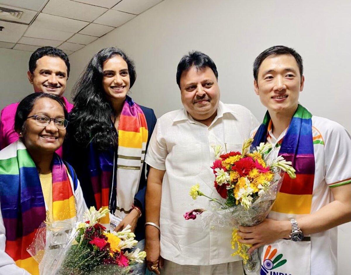 P V Sindhu returns to warm reception