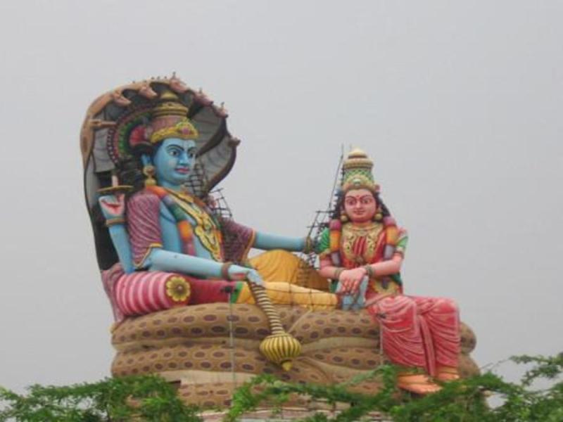 lord vishnu's statue found in bangladesh
