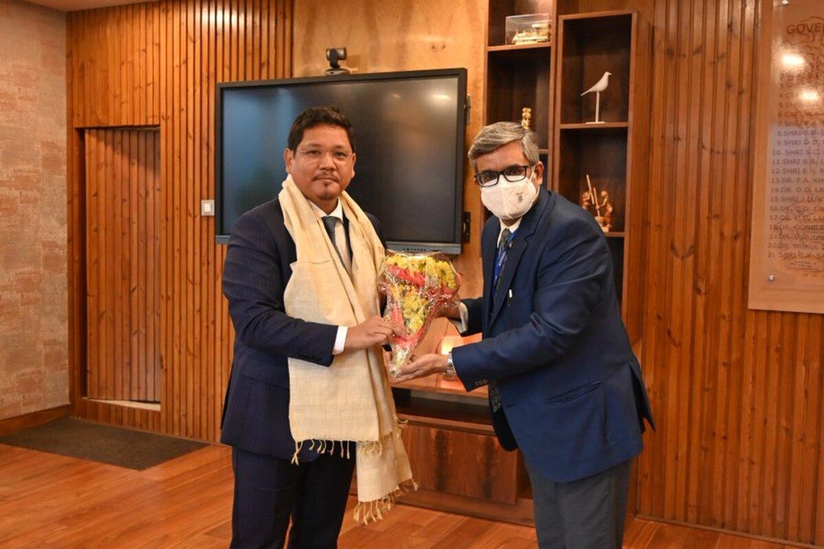 Meghalaya CM withy Dr Nalin Mehta