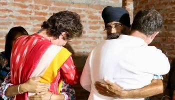 Rahul, Priyanka meet families of farmers killed in Lakhimpur