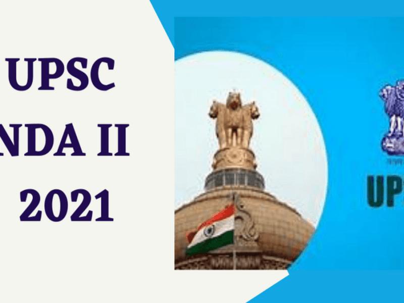 UPSC NDA 2 Admit Card 2021