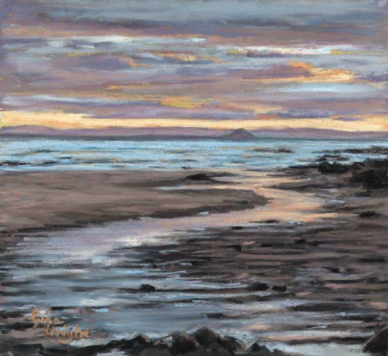 Anstruther Sunset, Pastel