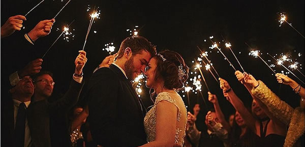 Sparklers create great pictures at September weddings