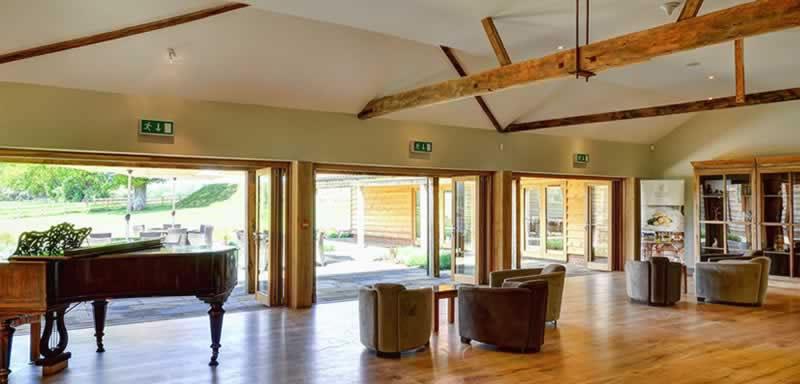 Drinks Reception. Alternative Essex wedding venue - Easton Grange luxury barn wedding venue