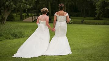 Same-sex weddings at Easton Grange. Gay, Lesbian, LGBT wedding venue