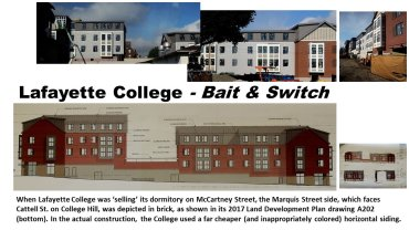 Lafayette College McCartney Street Dorm Project