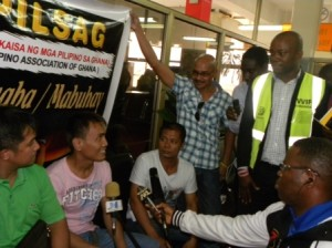 Pontillas get Filipino welcome in Accra