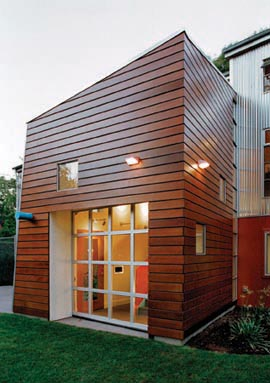 Seattle Home Exterior with Ipe Siding - East Teak on Modern House Siding  id=19199