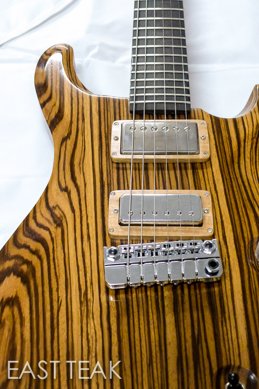 Matts Zebrawood PVX Guitar Build East Teak