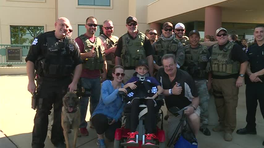 11 Year Old With Terminal Cancer Is Surprised By Police_71875332-159532