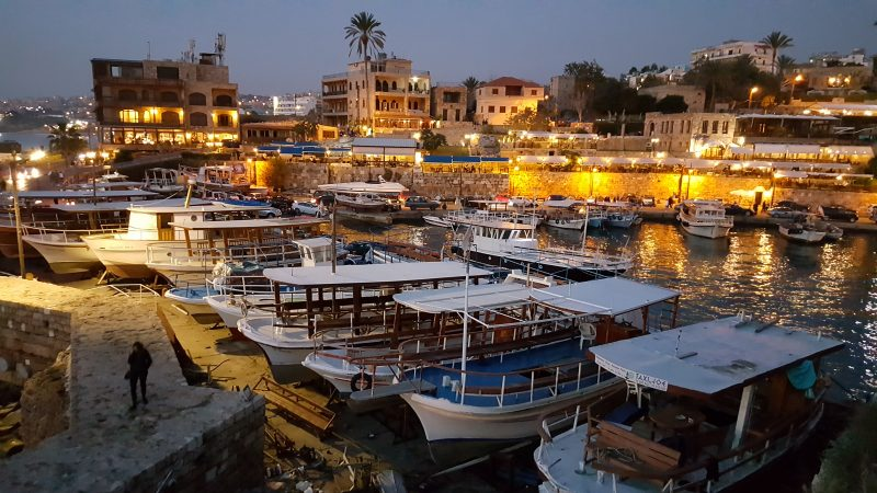Liban Biblos Byblos port