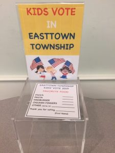 Easttown Kids Vote – Pizza Wins in a Landslide